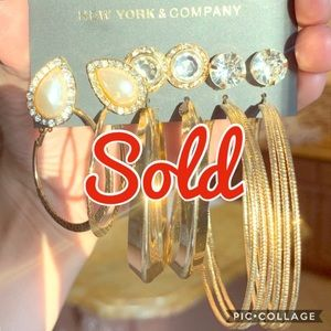 New York & Company: 6 NWT Pairs Earring Set SOLD